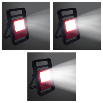 Akku LED Arbeitsleuchte Leuchte Strahler Hand Handlampe 20 W Watt + Kabel 120cm – Bild 5