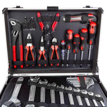 Alu Werkzeugkoffer mit Werkzeug 176 tlg Aluminium Werkzeugkasten Werkzeugsset – Bild 3