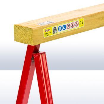 Unterstellbock 60 cm Stützbock mit Holzauflage – Bild 5