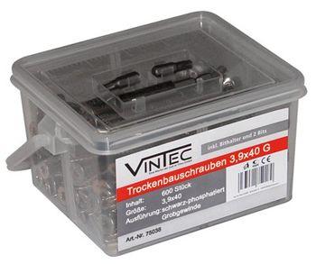 Vintec Trockenbauschrauben 3.9x40 G, 600 Stück