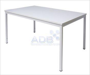 ADB Schreibtisch L80 120 160 200 x B80xH76 cm Lichtgrau – Bild 3