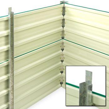 Set Metall Hochbeet Rosendaal grün 99x99x80 cm inkl. Alu Frühbeet 100x100 cm hoher UV Schutz gute Wärmedämmung  – Bild 4