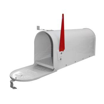 American Mailbox Briefkasten aus Stahl weiß – Bild 1