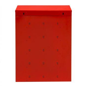 ADB Kleinteile Regal H700xB500xT167 mm 20 Fächer rot RAL 3020 inkl. Tür – Bild 3