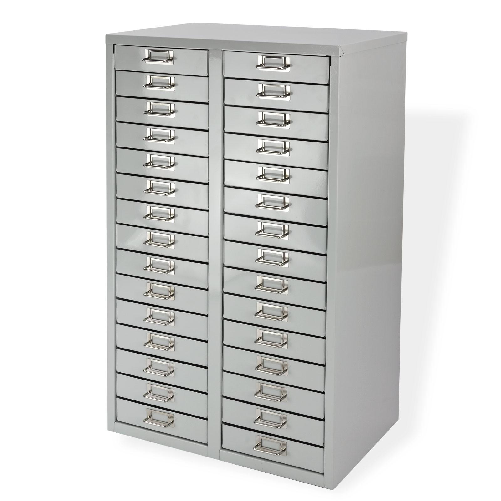 ADB Schubladenschrank/Schubladencontainer H860xB530xT400 mm RAL 7035 ...