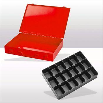 ADB Kleinteilemagazin mit Einteiler rot RAL 3020 Spannverschluss versch. Einteiler – Bild 8