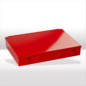 ADB Kleinteilemagazin mit Einteiler rot RAL 3020 Spannverschluss versch. Einteiler – Bild 2
