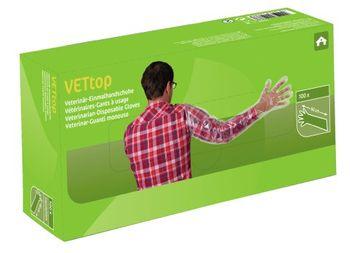 Kerbl Veterinär Einmalhandschuhe VETtop 100 Stück 90 cm lange Ausführung – Bild 3