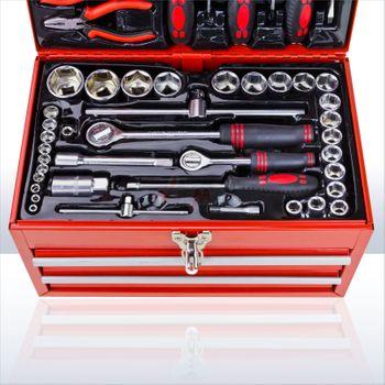 Werkzeugkasten Werkzeugkoffer Werkzeugkiste Werkzeugbox inkl. Werkzeug 155 tlg – Bild 6