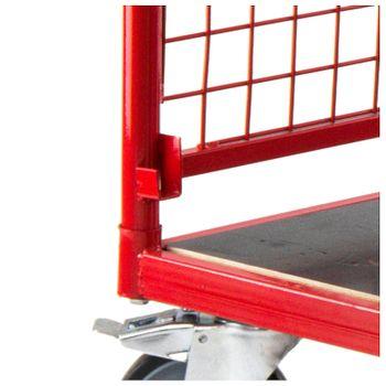 Transportwagen mit 1 Boden und 4 Gitterwänden – Bild 7