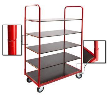 Plattformwagen Rollwagen Transportwagen Handwagen 5 Böden belastbar bis 300kg – Bild 5
