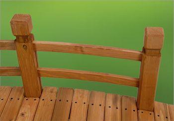 Holz Gartenbrücke Natur 148 cm – Bild 4