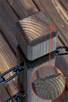 Rustikale Holz Gartenbrücke 148 cm – Bild 5