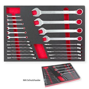 Werkstattmodul Einleger Schraubenschlüssel Set 21 tlg 6-32 für Werkstattwagen – Bild 5
