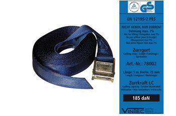 Vintec Zurrgurt Spanngurt blau 0.37 t x 5m – Bild 1