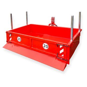 Heckcontainer / Kippmulde Kat 1 + 2 hydraulisch 125x200x40 Transportmulde Mulde – Bild 1