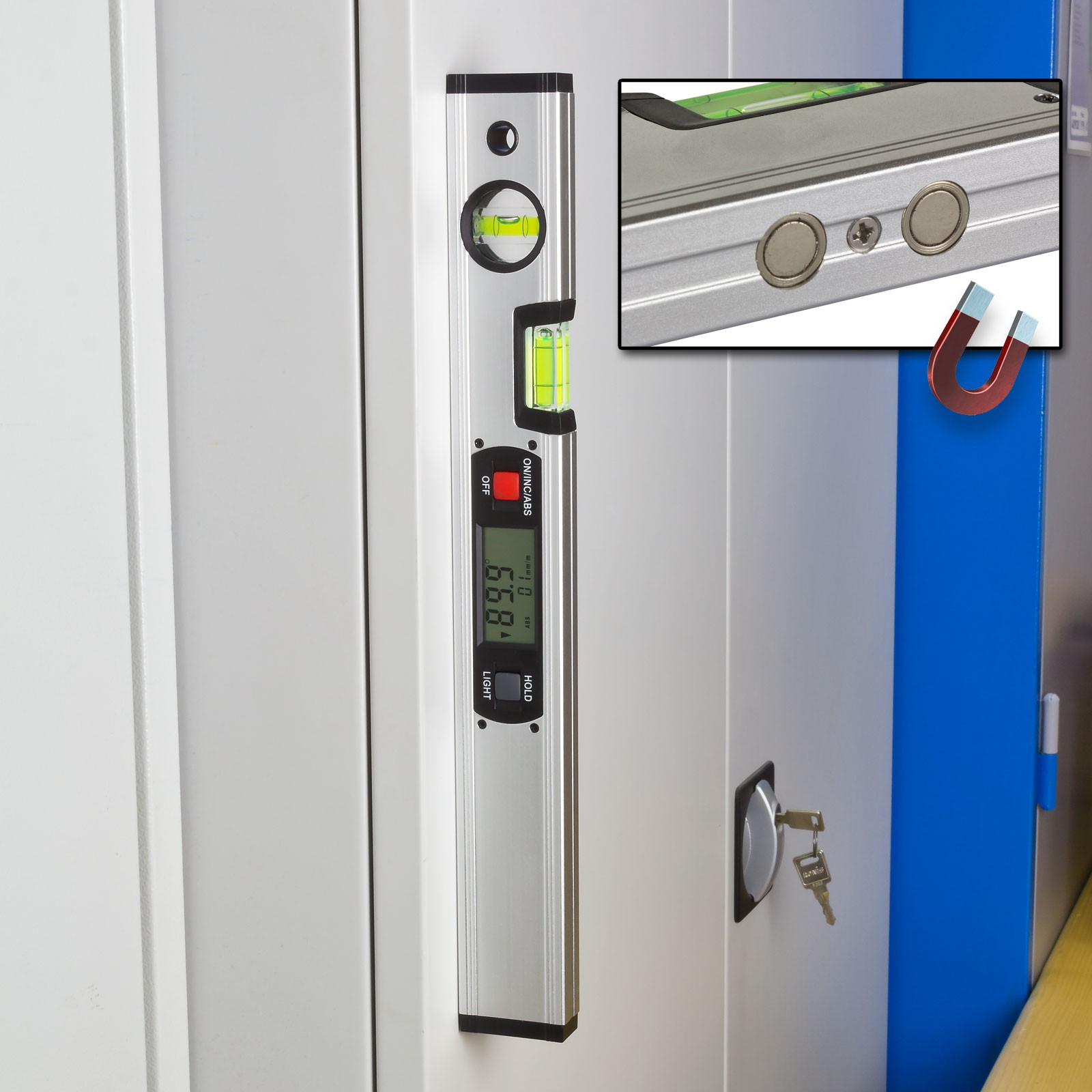 aluminium digitale elektronische wasserwaage mit magnet winkelmesser 40 cm ebay. Black Bedroom Furniture Sets. Home Design Ideas