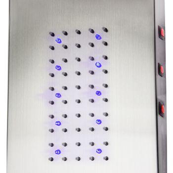 Stabilo Edelstahl Duschpaneel Tahiti Duschset LED Komplettdusche Duschsäule – Bild 4