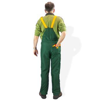 Schnittschutzhose ECO Gr. S M L XL XXL XXXL grün orange – Bild 3