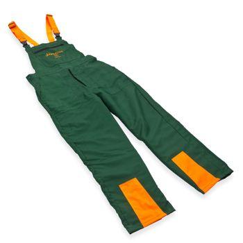 Schnittschutzhose ECO Gr. S M L XL XXL XXXL grün orange – Bild 6