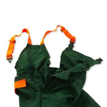Schnittschutzhose ECO Gr. S M L XL XXL XXXL grün orange – Bild 7