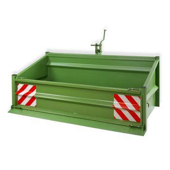 Heckcontainer Heckmulde Kippmulde Mulde Kippcontainer 1800S grün Stahl 1000kg – Bild 1