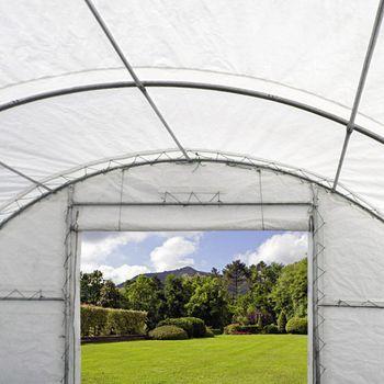 Lagerzelt 12x9,15m Materialzelt Zeltgarage mobile Lagerhalle Weidezelt Partyzelt  – Bild 4