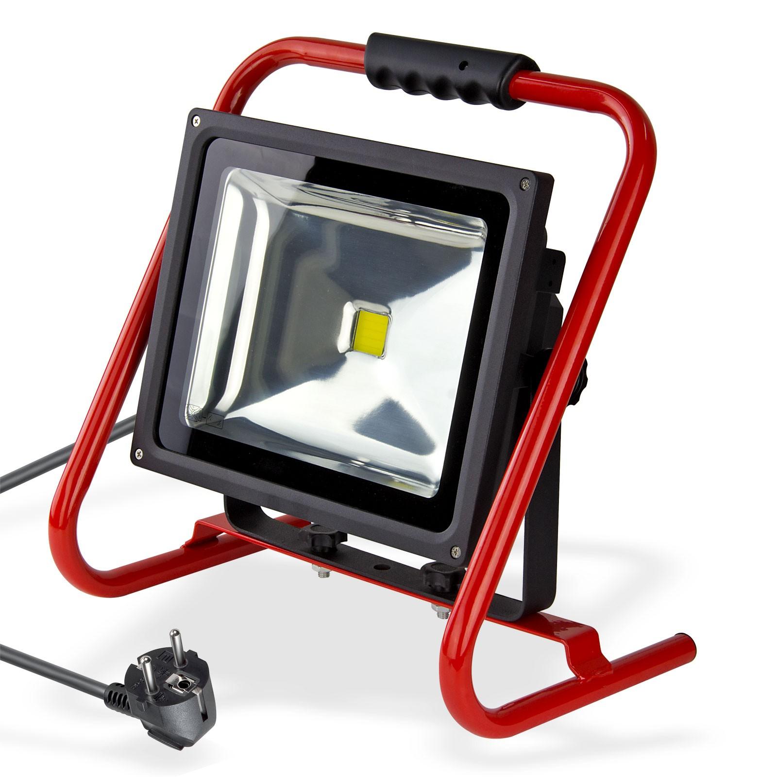 led baustrahler 50w tragbar mobil 6500k kaltwei 3000 lumen arbeitsleuchte neu ebay. Black Bedroom Furniture Sets. Home Design Ideas