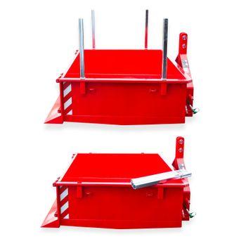 Heckcontainer hydraulisch 125x150x40 cm Kat I / II – Bild 3