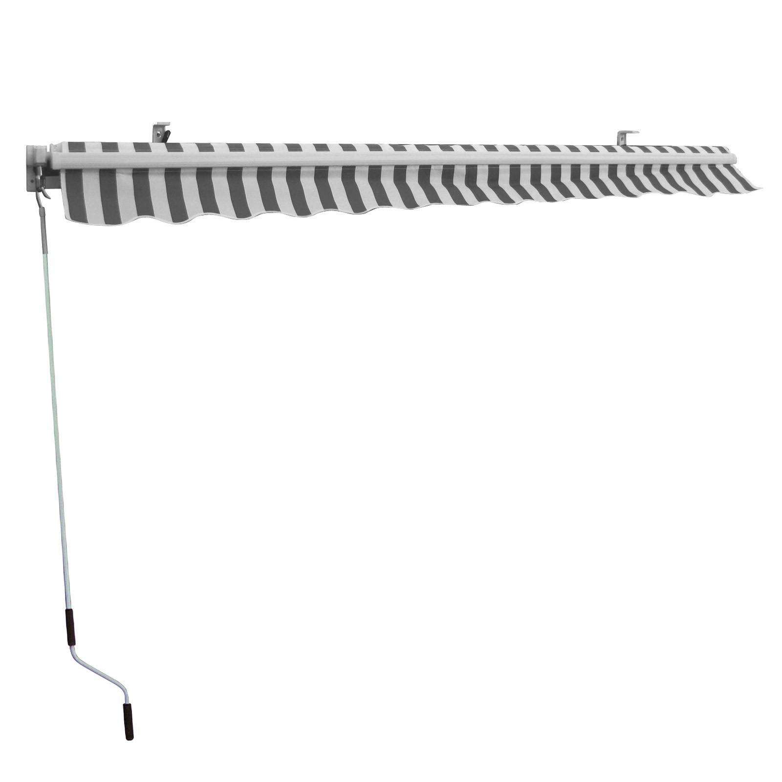 alu markise sonnenschutz 300x250 cm grau wei gelb wei. Black Bedroom Furniture Sets. Home Design Ideas