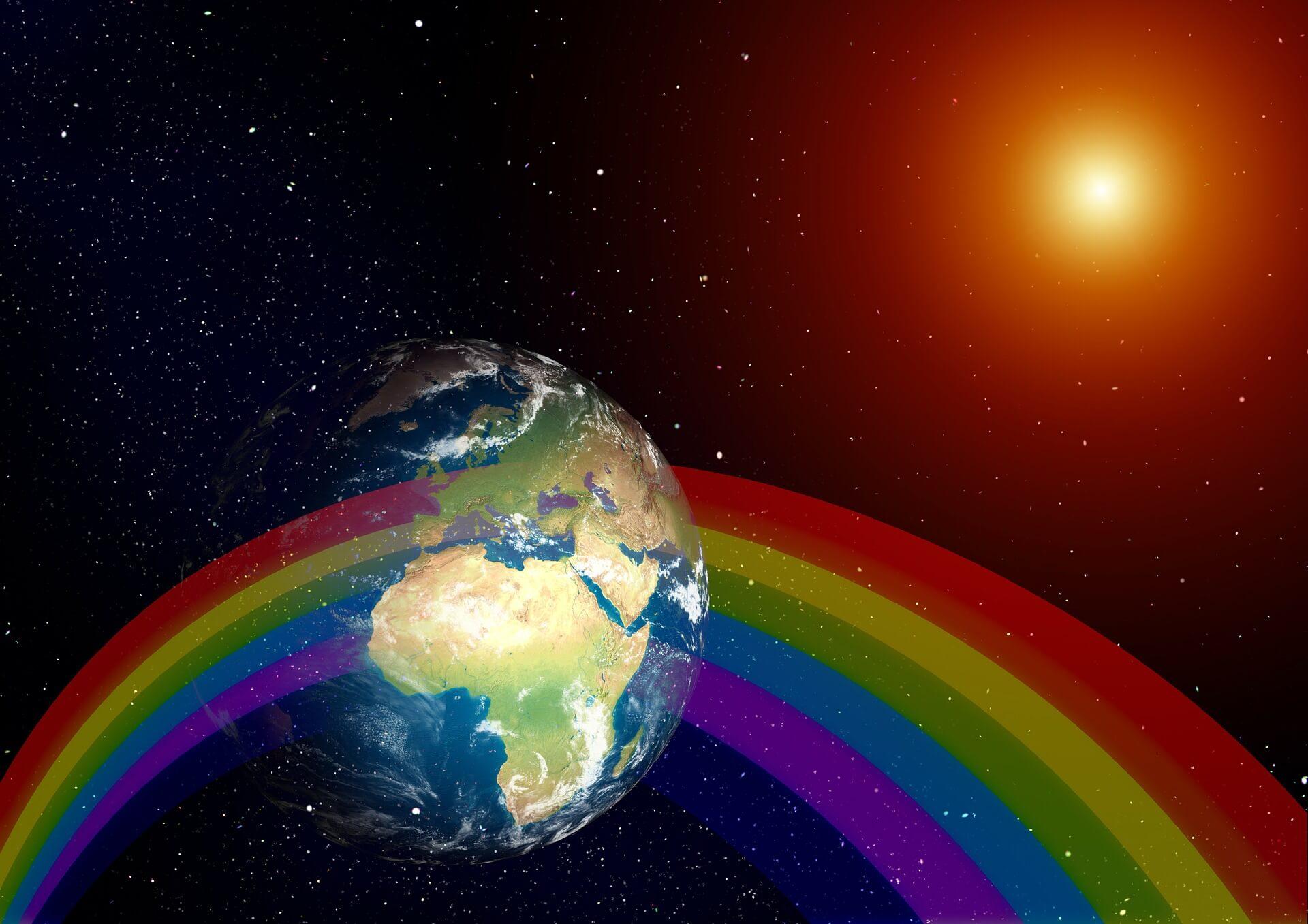 Erde / Regenbogen