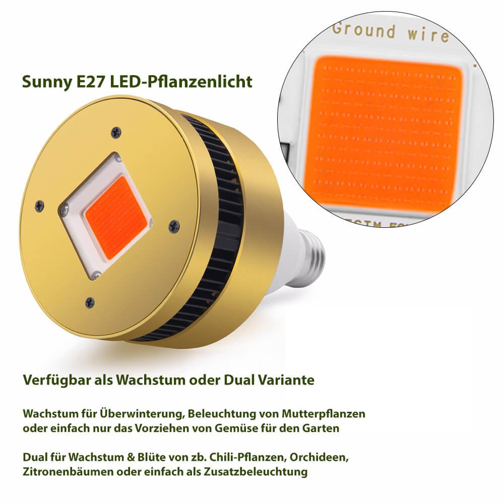 Sunny E27 LED-Pflanzenlicht Information