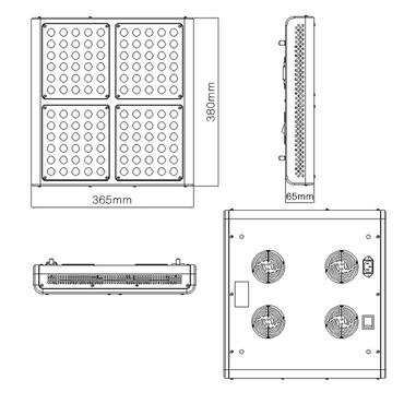 Monster M4 220W LED-Grow-Lampe (Dual) – Bild 5