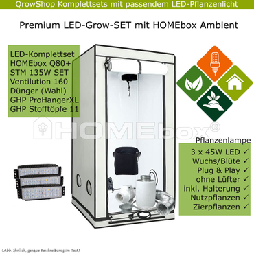 HOMEbox Ambient Q80+ – STM 135W LED-Grow-Set – Bild 1