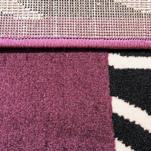 velours designer teppich ariba lila teppiche kurzflor teppiche design teppiche. Black Bedroom Furniture Sets. Home Design Ideas
