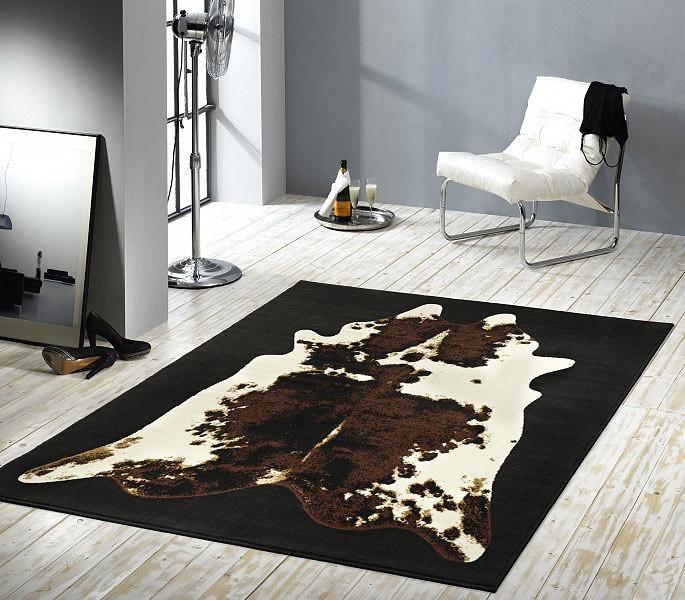 Design teppich  Designer Teppich Muuh! | Kuhfell Muster Kurzflor Teppiche Kurzflor ...