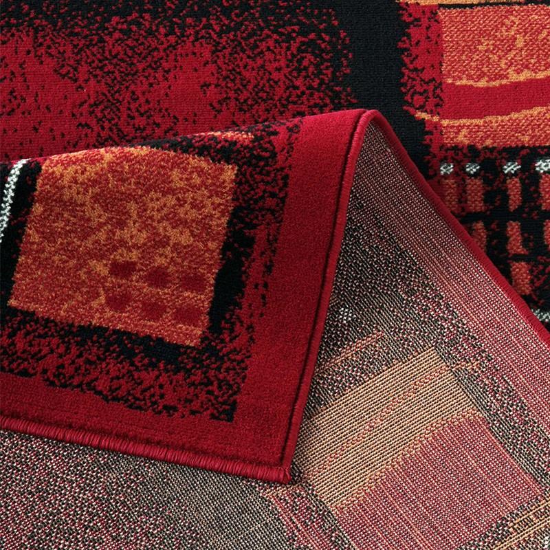 poils ras tapis design corona rouge bordure 101764 ebay. Black Bedroom Furniture Sets. Home Design Ideas