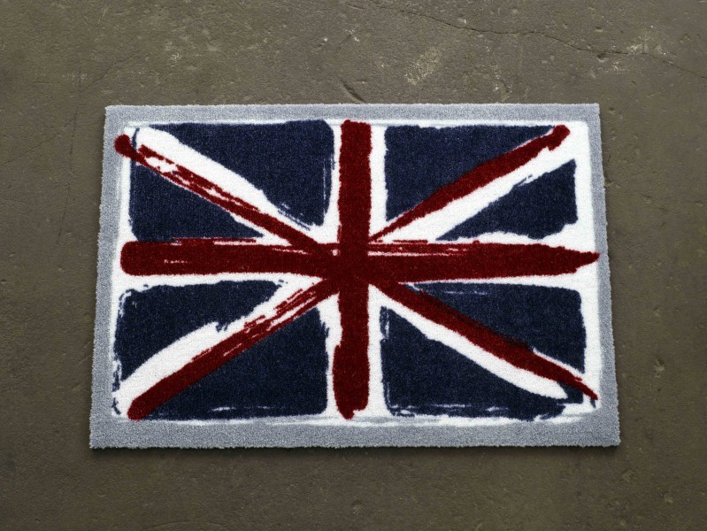 Fabulous Fußmatte Schmutzfangmatte Union Jack Vintage blau rot weiß 50x70  IL93