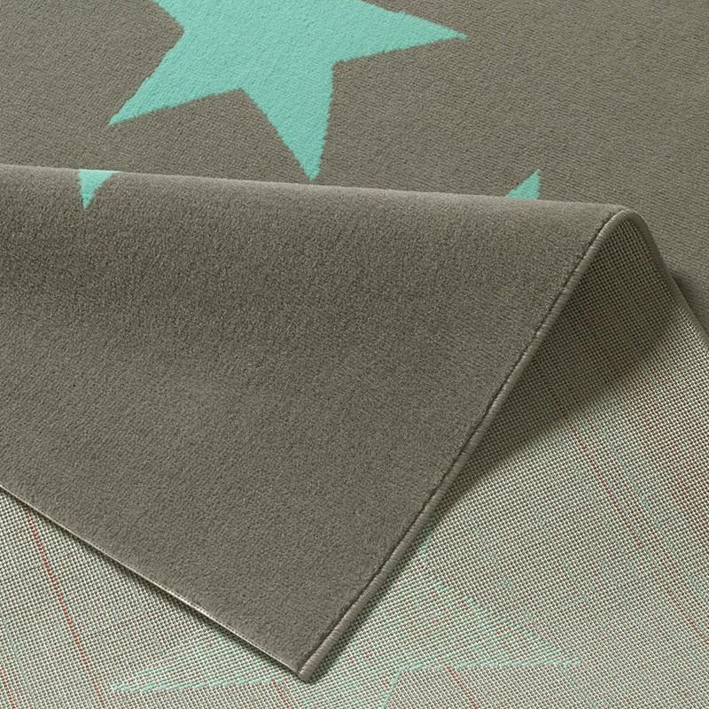 design velours teppich sterne grau blau 140x200 cm 102327 ebay. Black Bedroom Furniture Sets. Home Design Ideas
