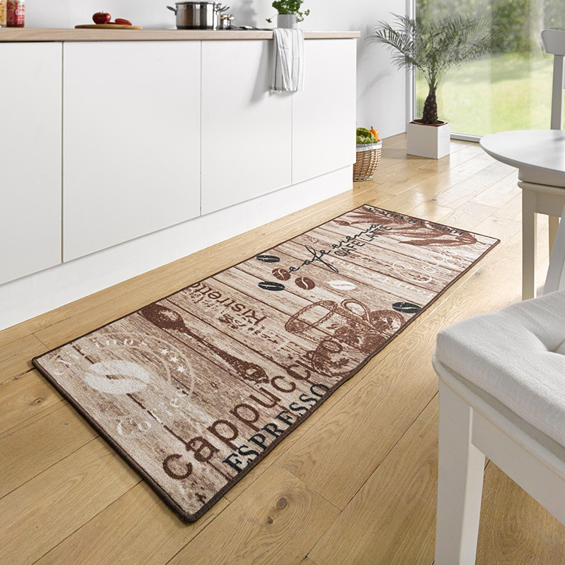 Design velours k chenl ufer delicious coffee braun 67x180 - Grand tapis de cuisine ...
