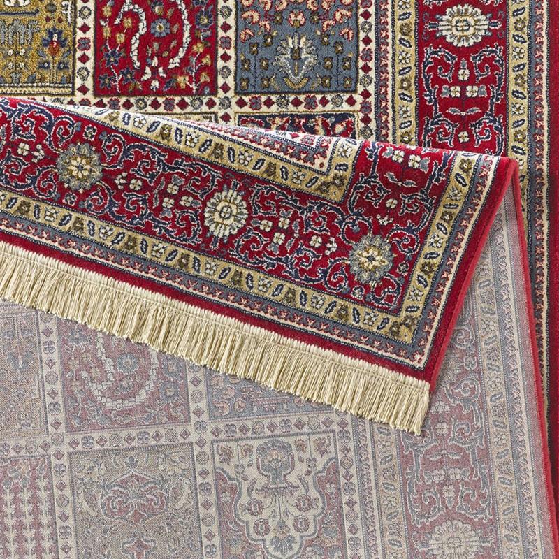 Design Teppich Viskose Mit Fransen Precious Rot Teppich Boss