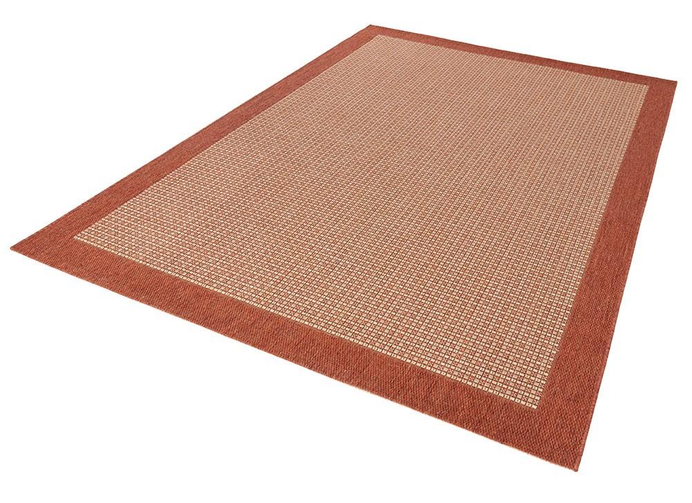 design teppich flachgewebe simple mit bord re terracotta teppiche flachgewebe teppiche natural line. Black Bedroom Furniture Sets. Home Design Ideas