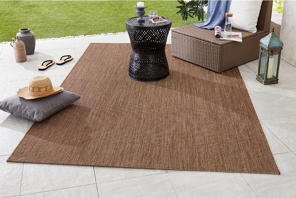 design in und outdoorteppich flachgewebe match braun teppichboss webshop. Black Bedroom Furniture Sets. Home Design Ideas