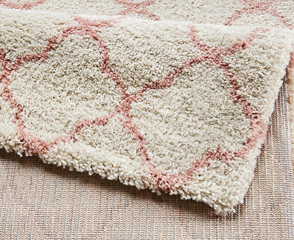 design velours teppich hochflor luna creme rosa teppiche hochflor teppiche mint line. Black Bedroom Furniture Sets. Home Design Ideas