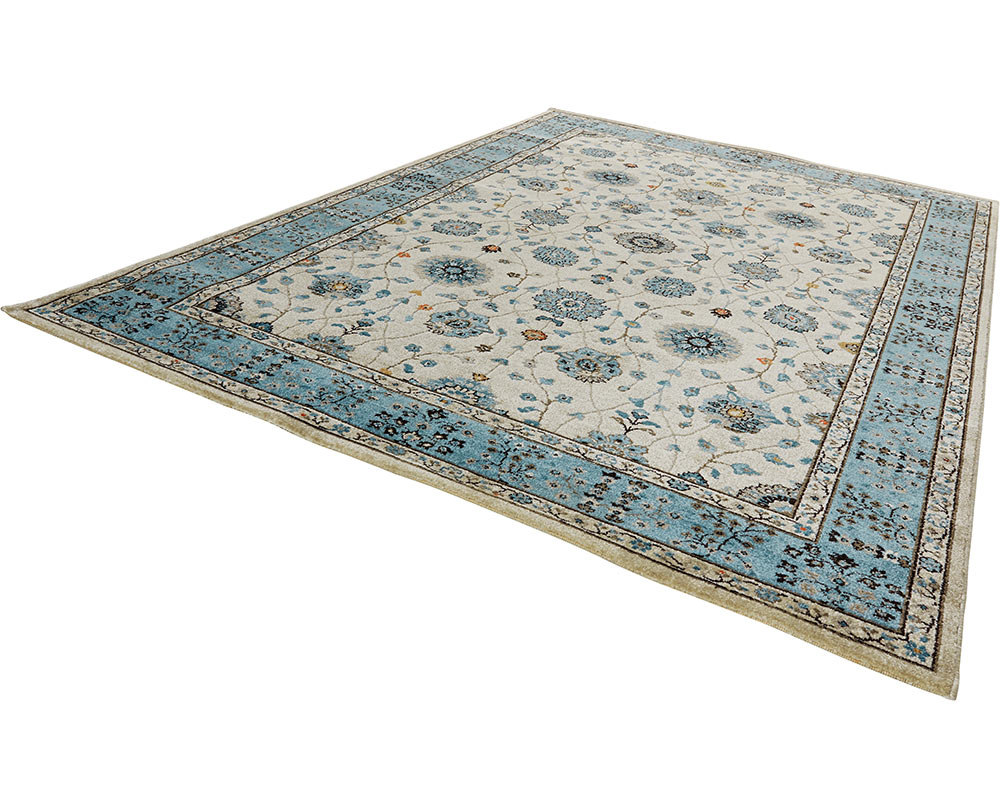 design velours poils ras tapis couture bleu beige gris bordure ebay. Black Bedroom Furniture Sets. Home Design Ideas