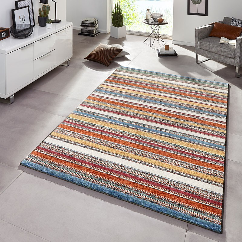 design velours poils ras tapis aurora bleu orange ray multicolore ebay. Black Bedroom Furniture Sets. Home Design Ideas