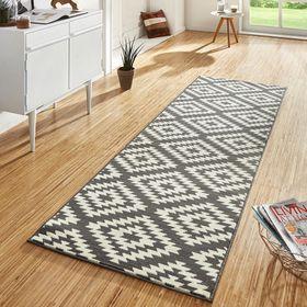 Dise o velur alfombra corta pasillo pelo n rdico gris - Alfombra gris pelo corto ...