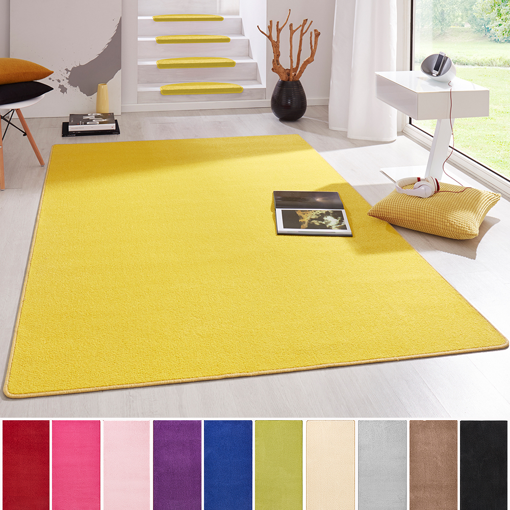 poils ras uni velours tapis fancy couleur unie schlingenteppich couleurs uni ebay. Black Bedroom Furniture Sets. Home Design Ideas