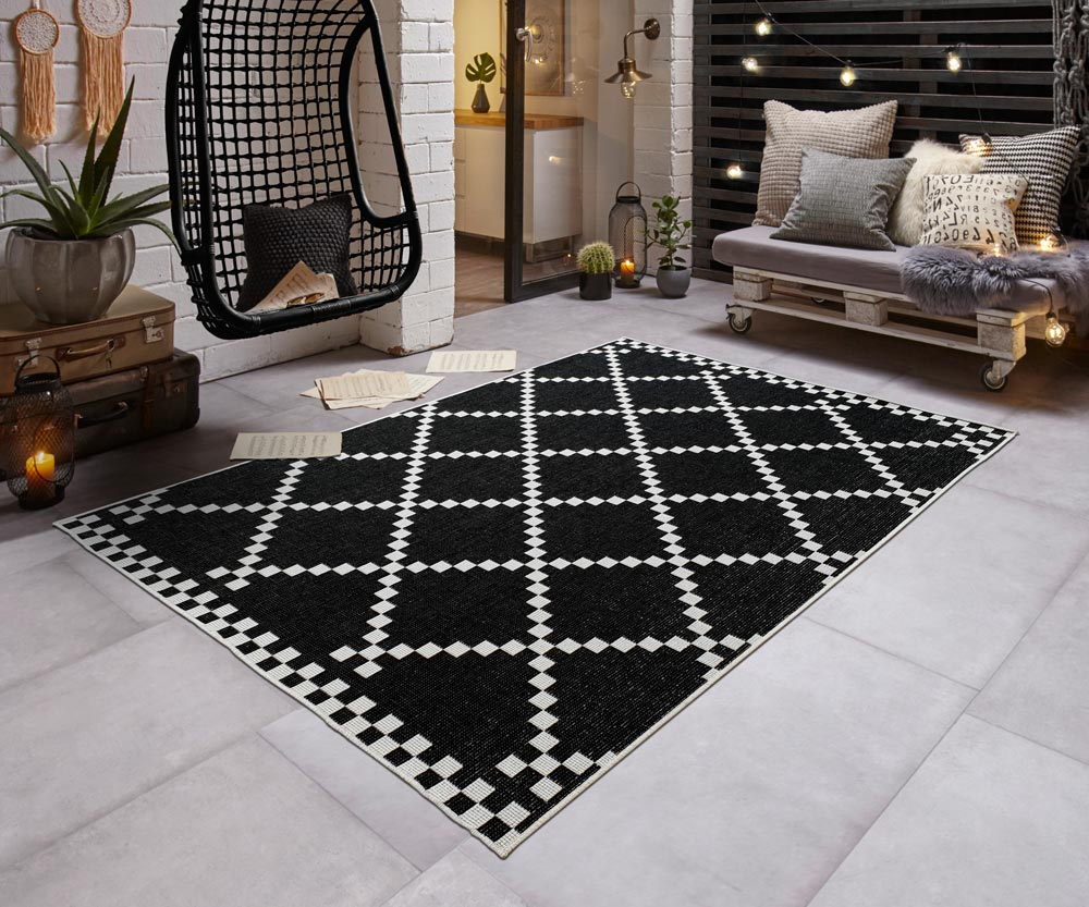 ad712b00ee20 Details about Indoor   Outdoor Carpet Turning » Pixel « Check-Optic Modern  Balcony Terrace