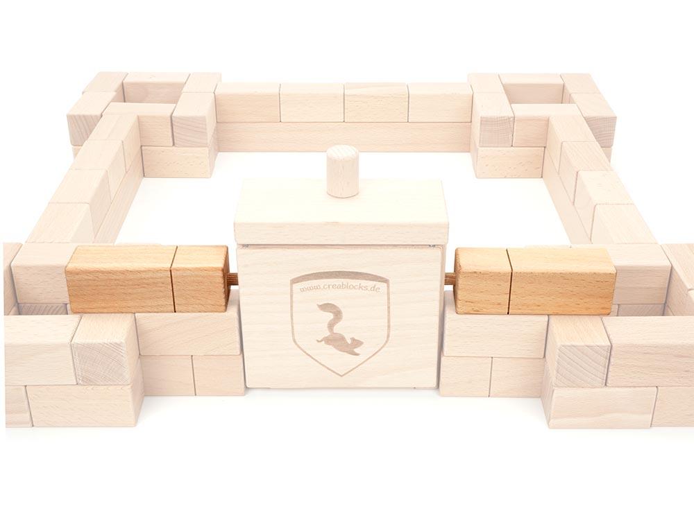 Die 3. Ebene beginnt wieder mit den Anschlussquadern am Burgtor